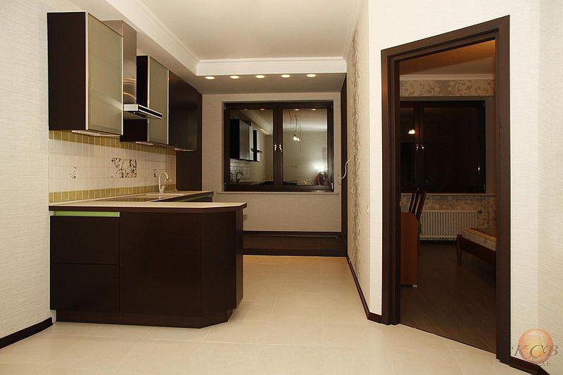 Фасады кухни покрыты матовым лаком со всех сторон, что существенно повышает срок эксплуатации изделия.