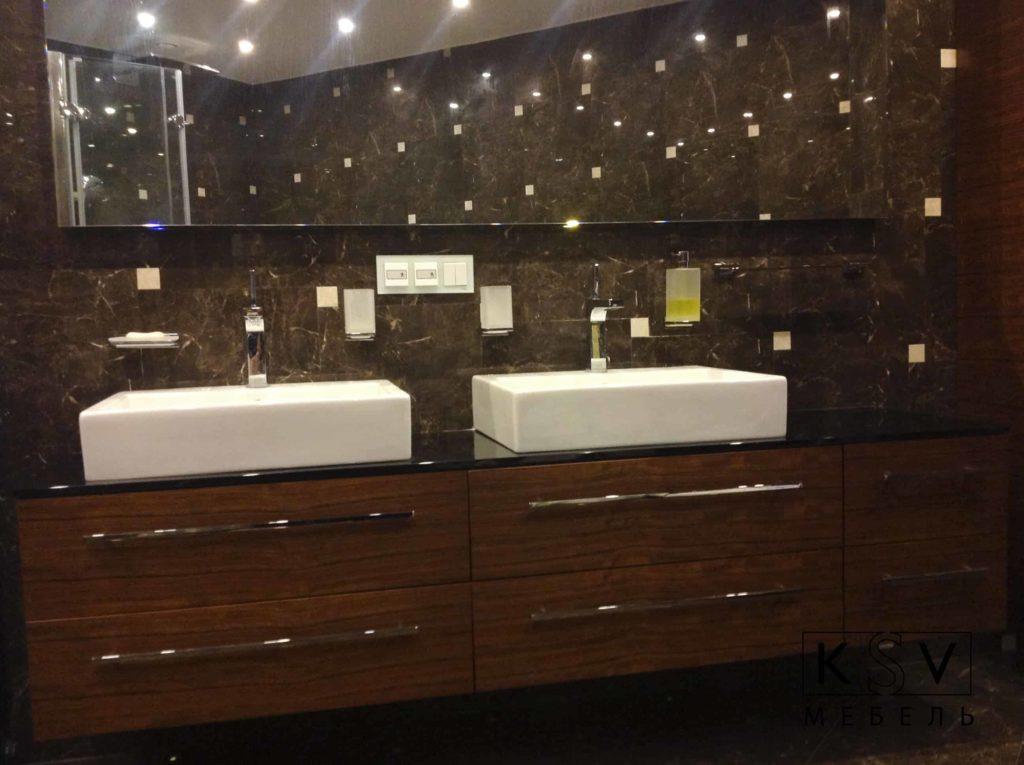 Мебельный гарнитур для ванной на заказ