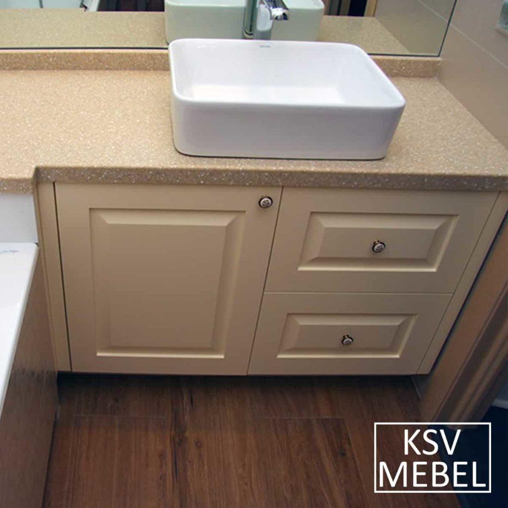 Мебель для ванной с фрезеровкой