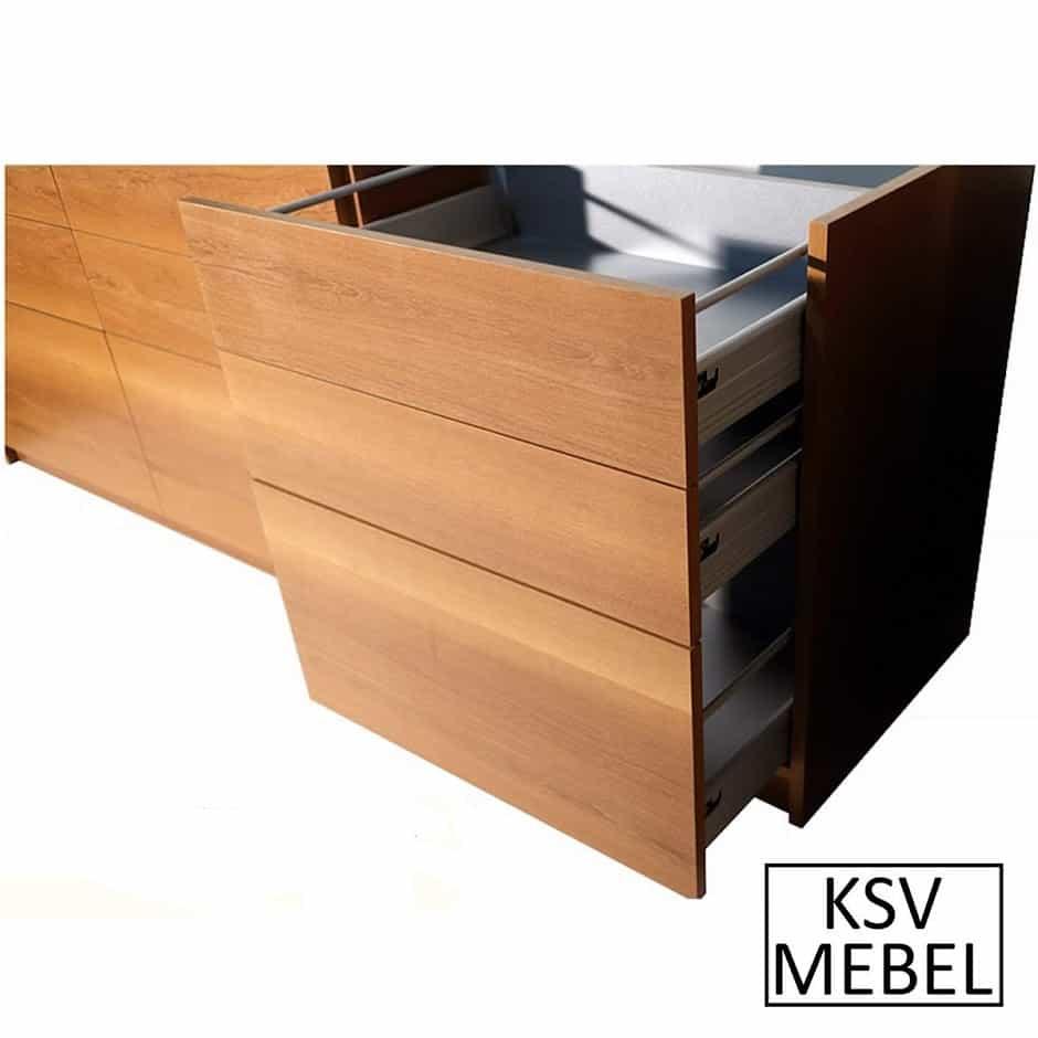 Комплект мебели на 9 выдвижных ящиков с открытыми ящиками