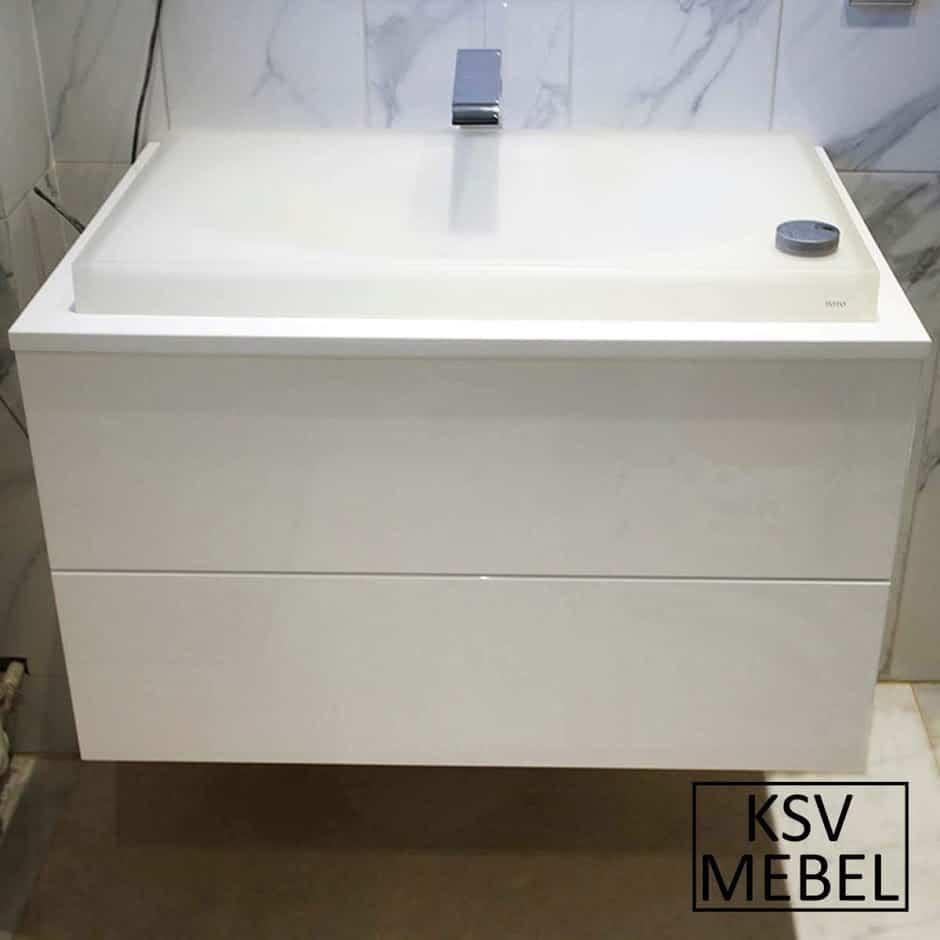 Мебель в ванную с двумя выдвижными ящиками