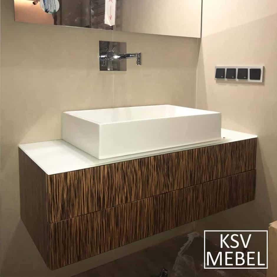 Мебель для ванной на 100 см вид спереди