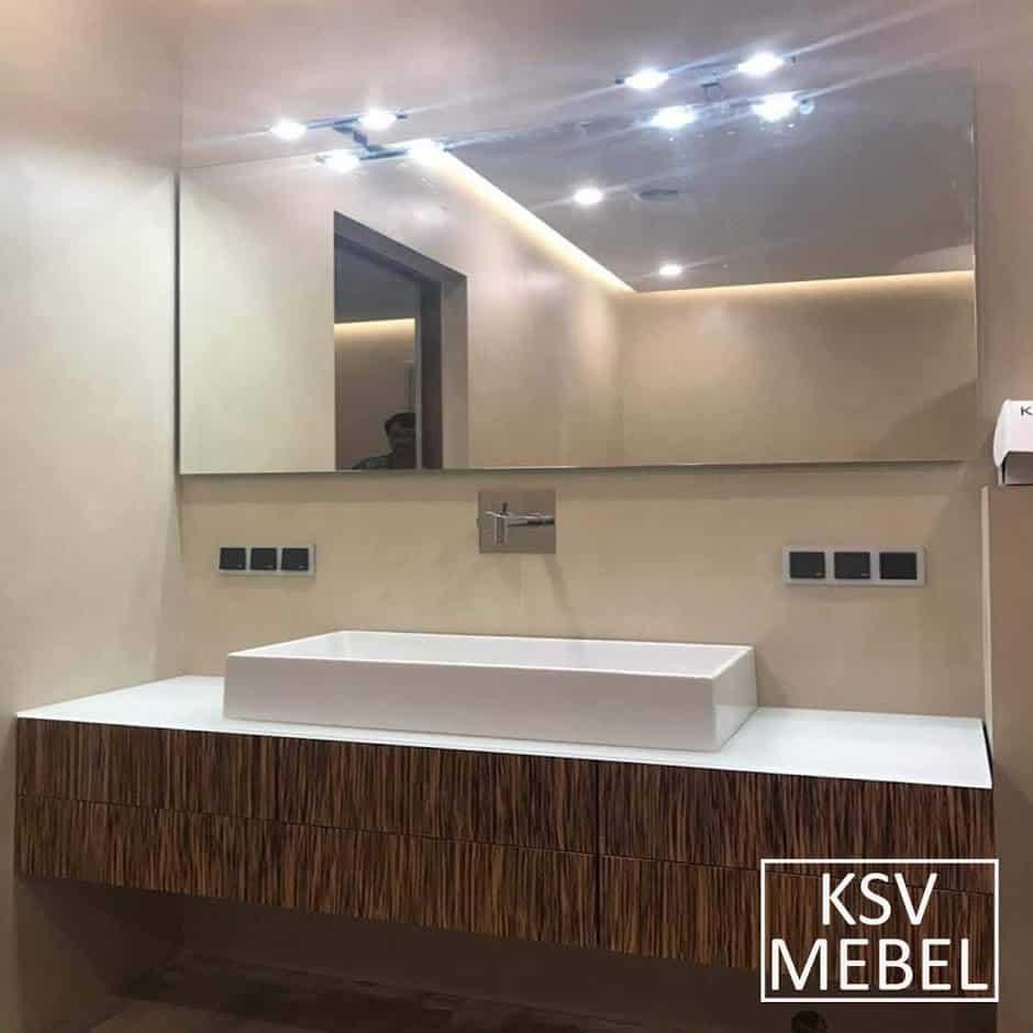 Мебель для ванной на 160 см вид спереди