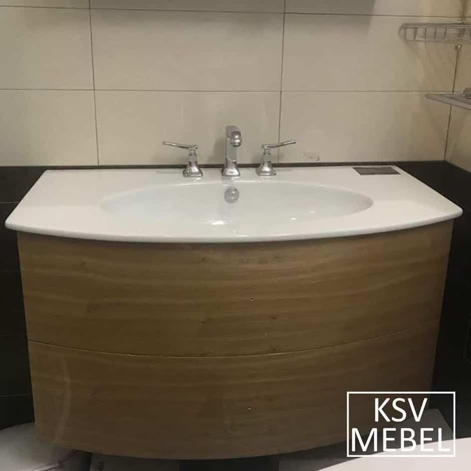 Мебель для ванной с радиусным фасадом