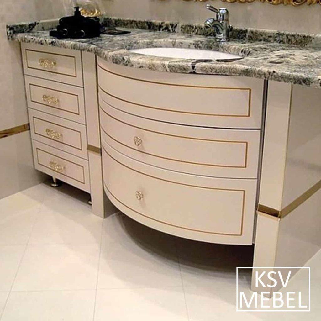 Мебель для ванной в классическом стиле по индивидуальному заказу