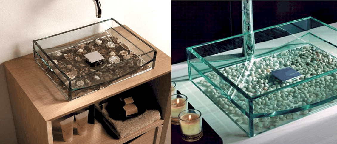 Раковины из стекла